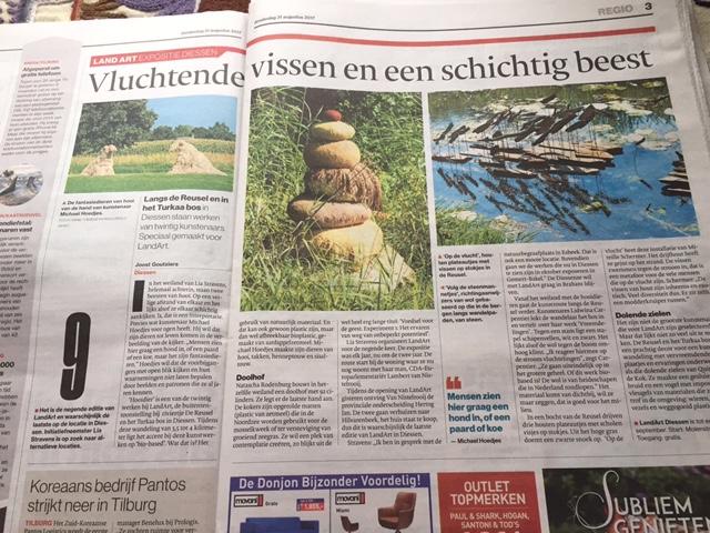 LandArt Diessen in het Brabants Dagblad